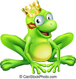 Frog Prince Cartoon - You have to kiss a lot of frogs to...