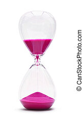 Hour Glass isolated on white background - An hourglass...
