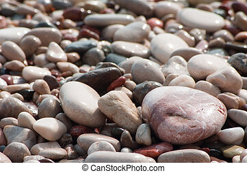 Stone - Backgrounds of defferent wet stone at beach...