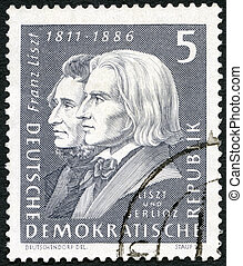 GERMANY - CIRCA 1961: A stamp printed in Germany shows Franz...