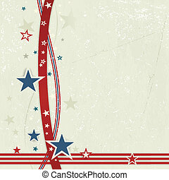 USA patriotic background in red, blue and off white. - US...