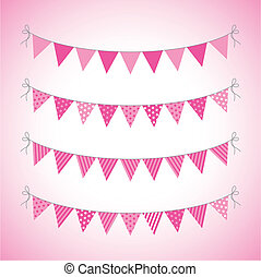 bunting - a set of four lines of bunting