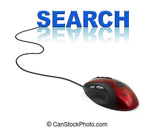 Computer mouse and word Search