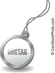 metal dog tag - a metal dog tag