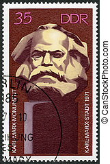 GERMANY - CIRCA 1971: A stamp printed in Germany shows Karl...