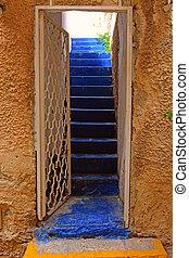 Open Door - Detail of the Facade with Open Door in Jaffa,...