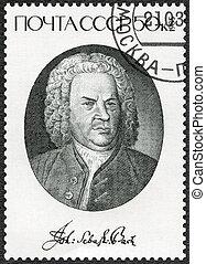 USSR - 1985: shows Johann Sebastian Bach (1685-1750),...