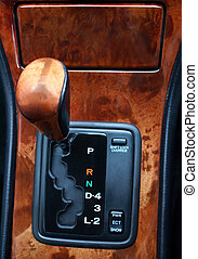 Luxury Gear Shift - Gear Shift and surround in a Luxury Car