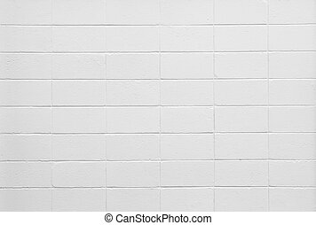 White brick wall - White color painted brick wall