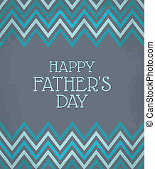 Chevron Pattern Father's Day Card