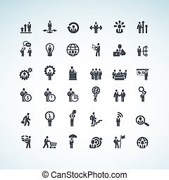 Set of business concept icons  - Set of business icons