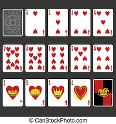 Heart Suit Playing Cards Full Set - Suit Playing Cards Full...