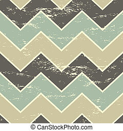 Seamless Chevron Pattern - Vintage style seamless chevron...