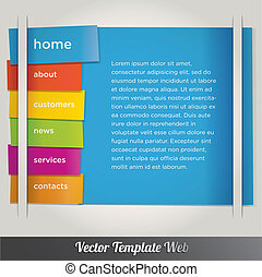 Web design template vector