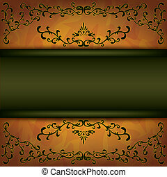 Grunge background with decorative ornament - Luxury...