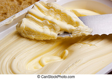 Canola oil - Butter for breakfast from canola low calorie