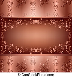 Ornamental background with seamless pattern
