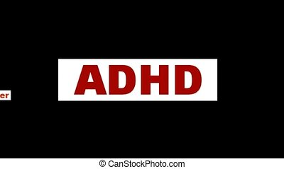 ADHD mental health symbol isolated on white background...