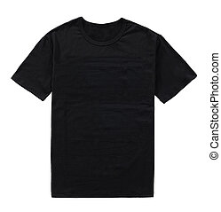 black t-shirt isolated