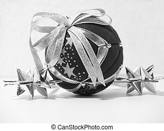 X-mas - Black and white christmas decoration - X-mas - Black...