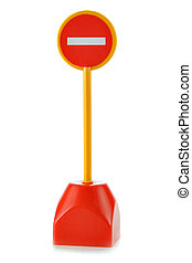 No Entry sign - Toy No Entry sign isolated over white...