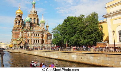 Christ the Savior on Blood Cathedral in St. Petersburg -...