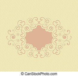 decorative frame - Decorative frame on a light brown...