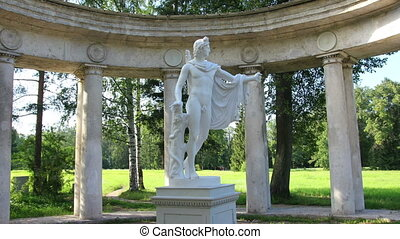 apollo colonnade, Pavlovsk park St. Petersburg Russia - timelapse in motion