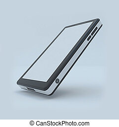 Mobile phone created by 3d software