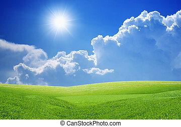Peaceful background - Peaceful landscape - green grass...