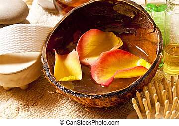 Petals and essential oils,spa