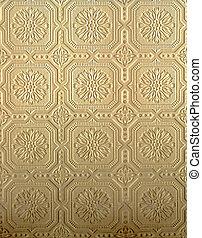 Tin pattern - Golden tin pressed wall pattern
