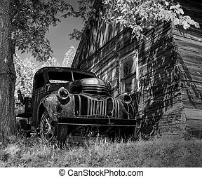 Old Chevy - An old truck abandoned close by a cottage