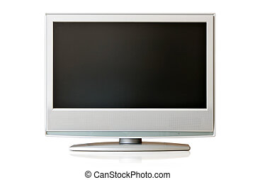 LCD TV - Flat LCD TV isolated over whte background