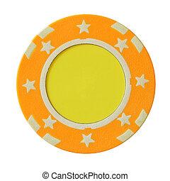Yellow casino chip