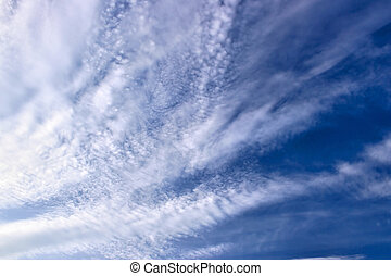 Sky - Blue sky with clouds, may be used as background