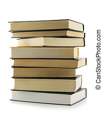 Stack of books - Stack of the books isolated over a white...