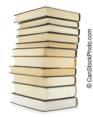 Books - Hardcover books isolated over white background