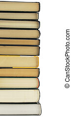 Stack of books isolated over a white background