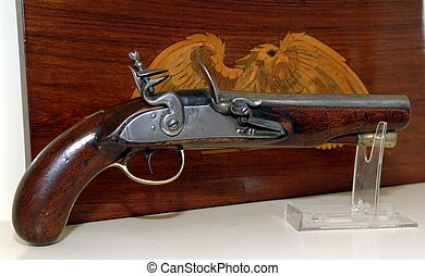 Flint lock pistol - 150 year old antique pistol