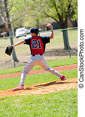 Teen Baseball pitcher - Teen baseball boy pitcher in the...