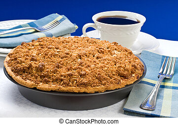 Apple Crumble Pie - Fresh baked apple crumble pie and coffee...