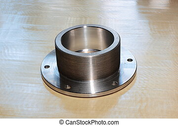 Nut with flange. - More products from steel with threaded...