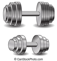 two dumbells - illustration with dumbells  for your design