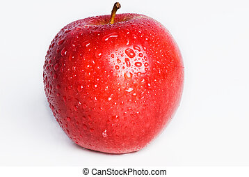 Isolated Red Apple - A single red apple isolated on white...