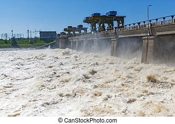 Discharge of water for hydropower plants