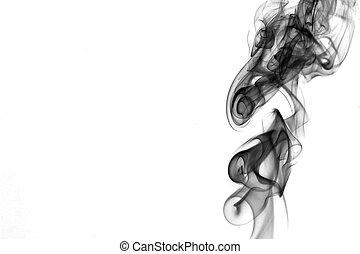black white smoke detail - black white smoke right detail on...