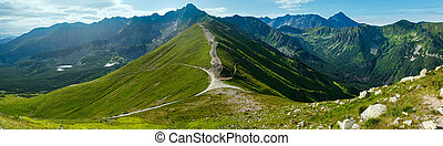 Summer Tatra Mountain panorama (Poland). - Tatra Mountain,...
