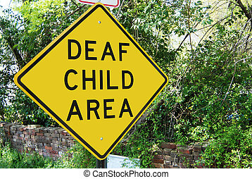 Deaf Child traffic sign - Traffic sign reading Deaf Child