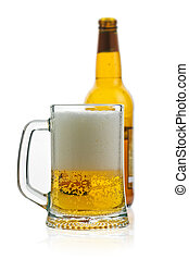 beer - glass of beer isolated on white